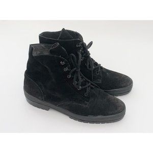 vintage suede hiking boots
